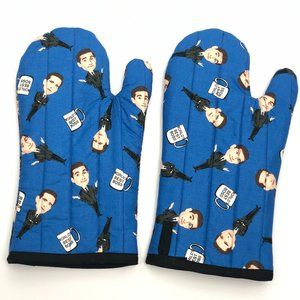 The Office Hand made set of oven mitts